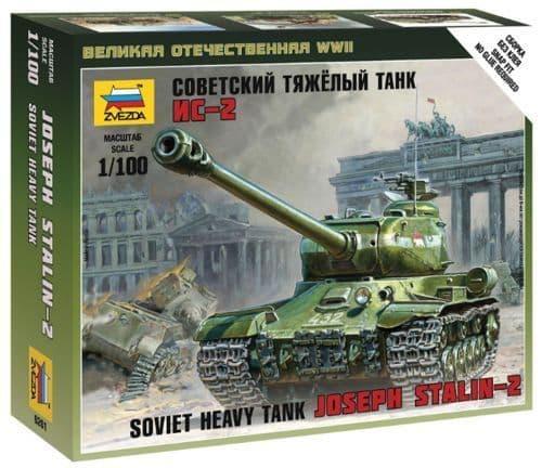 Zvezda 1/100 Soviet Heavy Tank Joseph Stalin-2 # 6201