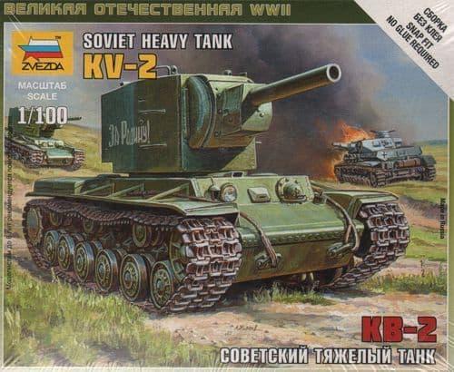 Zvezda 1/100 Soviet Heavy Tank KV-2 # 6202