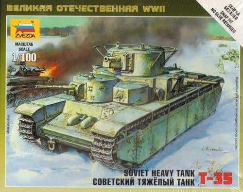 Zvezda 1/100 Soviet Heavy Tank T-35 # 6203