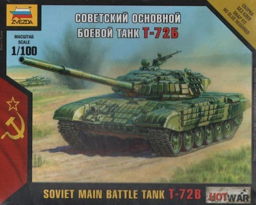 Zvezda 1/100 Soviet Main Battle Tank T-72B # 7400