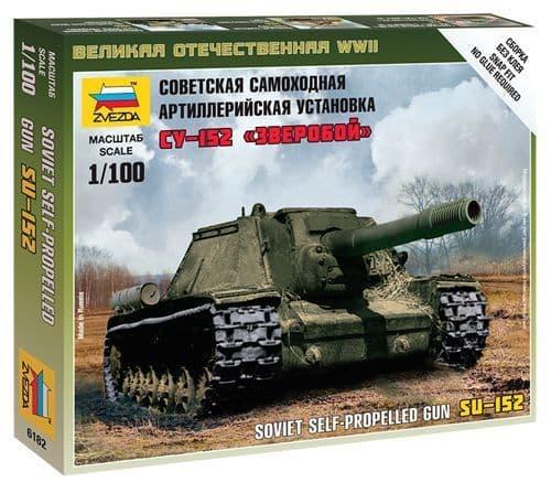 Zvezda 1/100 Soviet SU-152 # 6182