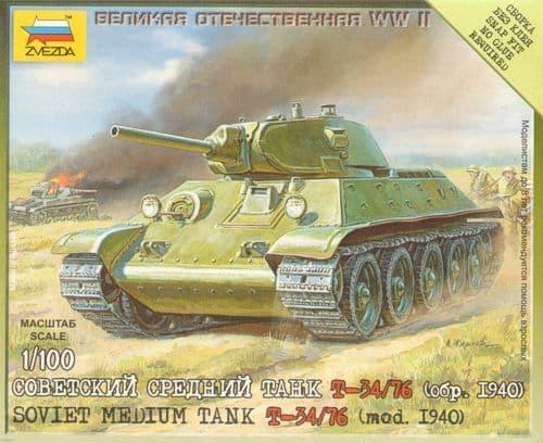 Zvezda 1/100 T-34/76 Mod. 1940 # 6101