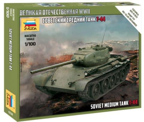 Zvezda 1/100 T-44 Soviet Medium Tank # 6238