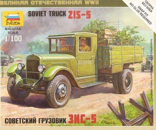 Zvezda 1/100 ZiS-5 Soviet Truck # 6124