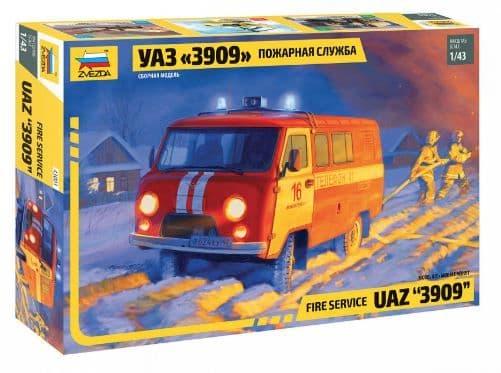 "Zvezda 1/43 UAZ ""3903"" Fire Service # 43001"