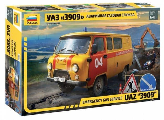 """Zvezda 1/43 UAZ """"3909"""" Emergency Gas Service # 43003"""