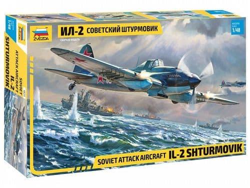 Zvezda 1/48 Ilyshin IL-2 Shturmovik Soviet Attack Aircraft # 4825