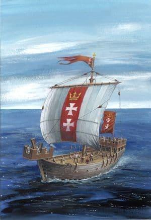 Zvezda 1/72 Hansa Kogg Crusaders Ship # 9018