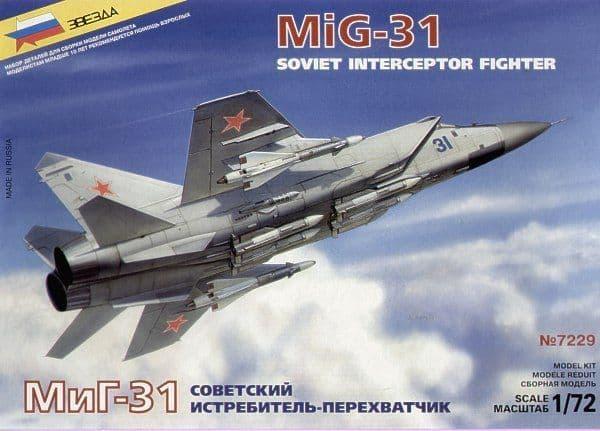 Zvezda 1/72 Mikoyan MiG-31 # 7229
