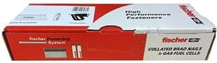 FISCHER 16G X 63MM STAINLESS STEEL STRAIGHT SECOND FIX NAIL & GAS PACK (2,000 + 2  CELL)