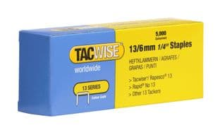 Tacwise 0233 13/6mm Galvanised Staples (5,000)
