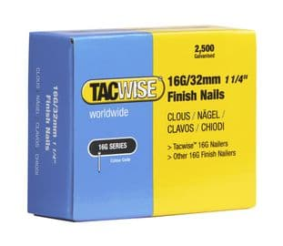 Tacwise 0294 16G/32mm Galvanised Finish Nails (2,500)
