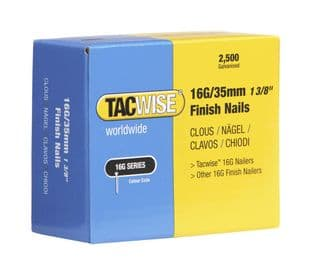 Tacwise 0295 16G/35mm Galvanised Finish Nails (2,500)