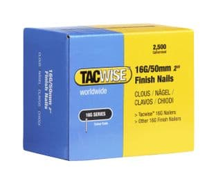 Tacwise 0298 16G/50mm Galvanised Finish Nails (2,500)