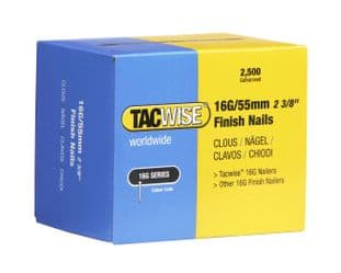 Tacwise 0299 16G/55mm Galvanised Finish Nails (2,500)