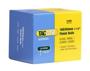 Tacwise 0301 16G/64mm Galvanised Finish Nails (2,500)
