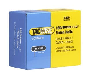 Tacwise 0319 16G/40mm Galvanised Finish Nails (2,500)