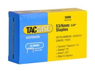 Tacwise 0331 53/6mm Galvanised Staples (5,000)