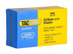 Tacwise 0332 53/8mm Galvanised Staples (5,000)