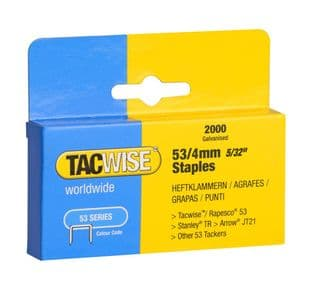 Tacwise 0333 53/4mm Galvanised Staples (2,000)