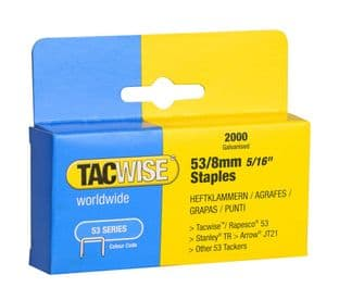 Tacwise 0335 53/8mm Galvanised Staples (2,000)
