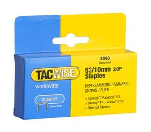 Tacwise 0336 53/10mm Galvanised Staples (2,000)