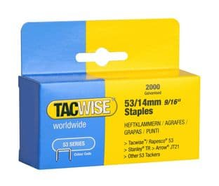 Tacwise 0338 53/14mm Galvanised Staples (2,000)