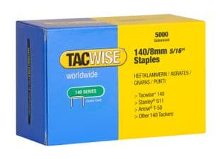 Tacwise 0341 140/8mm Galvanised Staples (5,000)