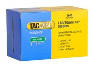 Tacwise 0342 140/10mm Galvanised Staples (5,000)