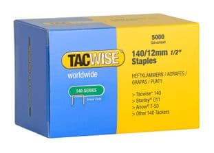 Tacwise 0343 140/12mm Galvanised Staples (5,000)