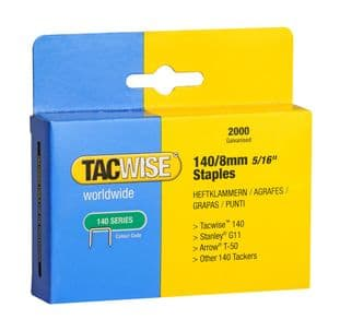 Tacwise 0346 140/8mm Galvanised Staples (2,000)