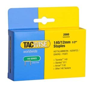 Tacwise 0348 140/12mm Galvanised Staples (2,000)
