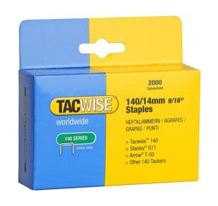 Tacwise 0349 140/14mm Galvanised Staples (2,000)