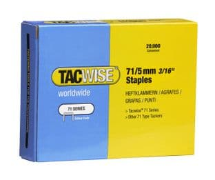 Tacwise 0366 71/5mm Galvanised Staples (20,000)