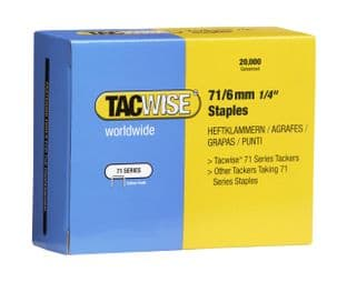 Tacwise 0367 71/6mm Galvanised Staples (20,000)