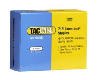 Tacwise 0371 71/14mm Galvanised Staples (10,000)