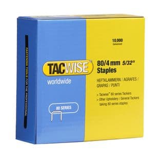 Tacwise 0380 80/4mm Galvanised Staples (10,000)