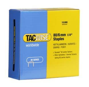 Tacwise 0381 80/6mm Galvanised Staples (10,000)