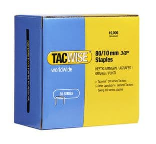 Tacwise 0383 80/10mm Galvanised Staples (10,000)
