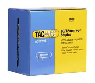 Tacwise 0384 80/12mm Galvanised Staples (10,000)