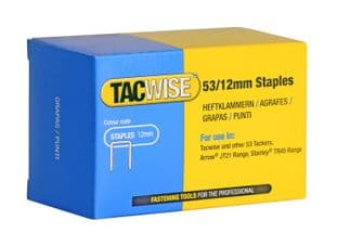 Tacwise 0450 53/12mm Galvanised Staples (5,000)