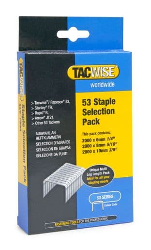 Tacwise 1095 53 Staple Selection Pack (6,000)
