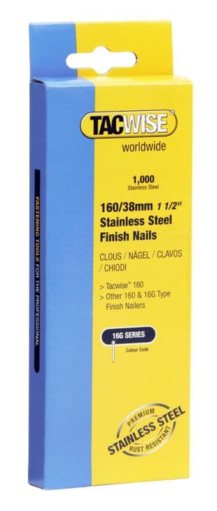 Tacwise 1097 160/38mm Stainless Steel Finish Nails (1,000)