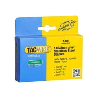 Tacwise 1216 140/8mm Stainless Steel Staples (2,000)