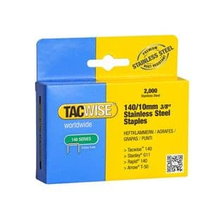 Tacwise 1217 140/10mm Stainless Steel Staples (2,000)