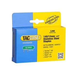 Tacwise 1220 140/12mm Stainless Steel Staples (2,000)