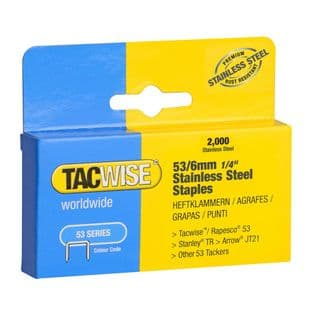 Tacwise 1268 53/6mm Stainless Steel Staples (2,000)