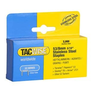 Tacwise 1269 53/8mm Stainless Steel Staples (2,000)