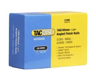 TACWISE 16G X 45MM GALVANISED ANGLED FINISH NAILS (2,500)