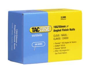 TACWISE 16G X 50MM GALVANISED ANGLED FINSIH NAILS (2,500)